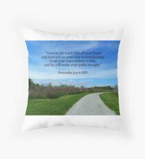 Proverbs 3:5-6 Throw Pillow