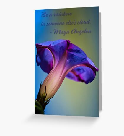Morning glory inspiration Greeting Card