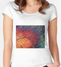 Fractured Skies Fitted Scoop T-Shirt