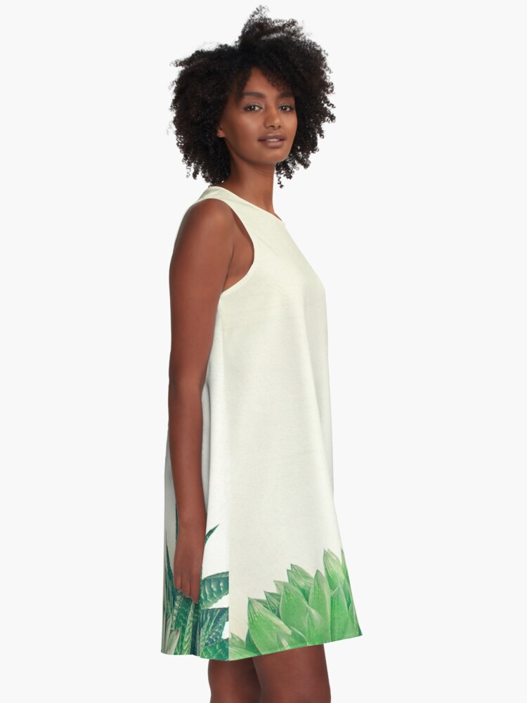 Alternate view of Succulent Forest A-Line Dress