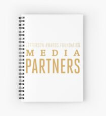 Media Partners Logo Spiral Notebook
