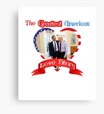 Joe Biden Barack Obama Greatest American Love Story Funny T-shirt  Canvas Print