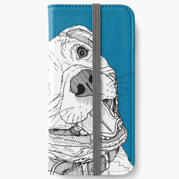 Staffordshire Bull Terrier Portrait iPhone Wallet