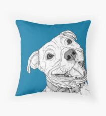 Staffordshire Bull Terrier Portrait Throw Pillow