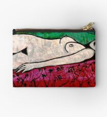 Nude in a Landscape 1 -  Mixed Media Studio Pouch