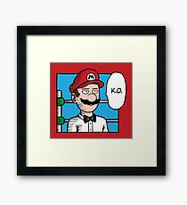 One Punch-Out Man Framed Print