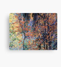 Impressionist Forest in Autumn Canvas Print