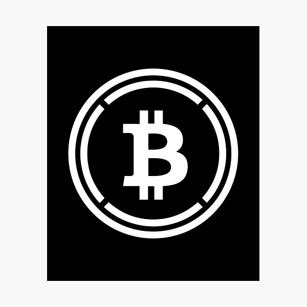 Wrapped Bitcoin cryptocurrency - Wrapped Bitcoin WBTC Photographic Print
