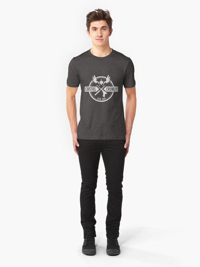 Alternate view of Castiel & Crowley Investigators Slim Fit T-Shirt