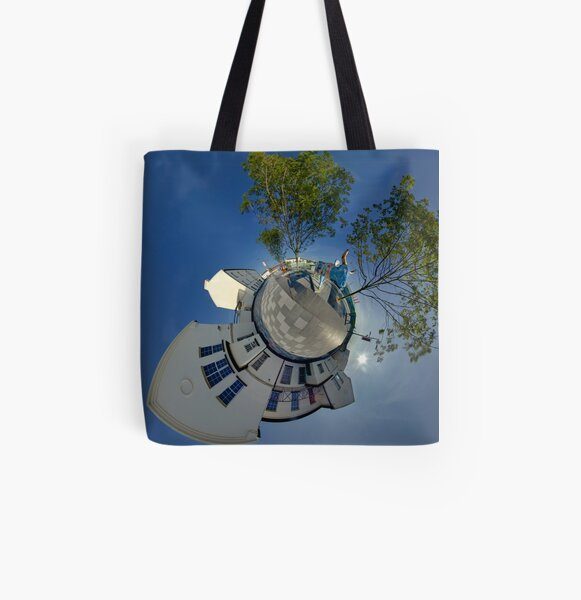 Cow Parade Panorama - Shirt Factory Horn, Derry All Over Print Tote Bag