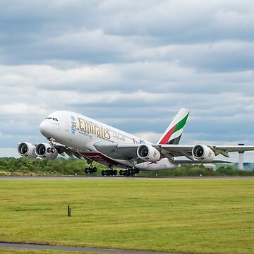 Emirates Airbus A380 Takeoff by Russell102
