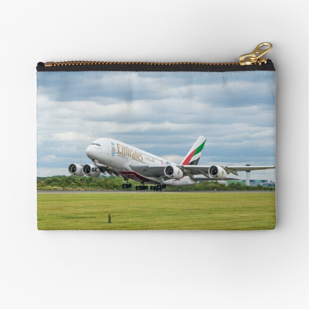Emirates Airbus A380 Takeoff Zipper Pouch