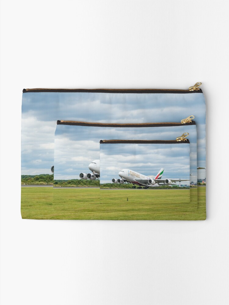 Alternate view of Emirates Airbus A380 Takeoff Zipper Pouch
