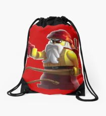Manly Santa Drawstring Bag