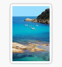 Boats on the bay of Saint Tropez, French Riviera Sticker