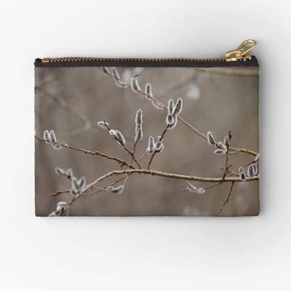 Pussy willow catkins Zipper Pouch