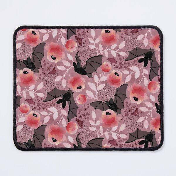 Pastel bat floral pink Mouse Pad
