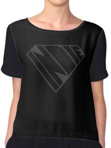 Indie Power (Black on Black Edition) Chiffon Top