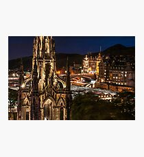 Old town view from Princes Street Photographic Print