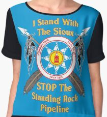 Standing Rock Crossed Arrows - Stop The Pipeline Chiffon Top
