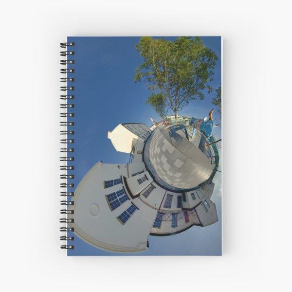 Cow Parade Panorama - Shirt Factory Horn, Derry Spiral Notebook