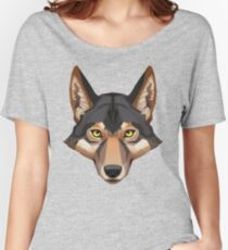 Wolf Portrait Women's Relaxed Fit T-Shirt