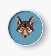 Wolf Portrait Clock