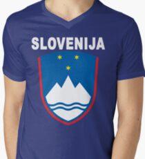 Slovenia Slovenija National Theme Men's V-Neck T-Shirt