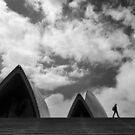 Sydney Opera House and a Lone Figure by Mick Kupresanin
