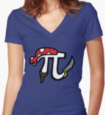 Pi Pirate Women's Fitted V-Neck T-Shirt