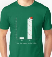 Christmas Carol Math Bar Graph T-Shirt