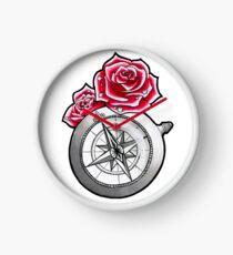 Rose Compass Clock
