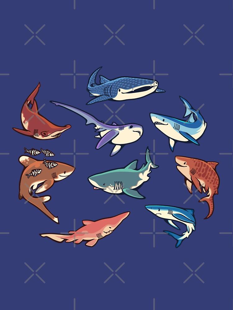 Haie im Hellblau von Colordrilos