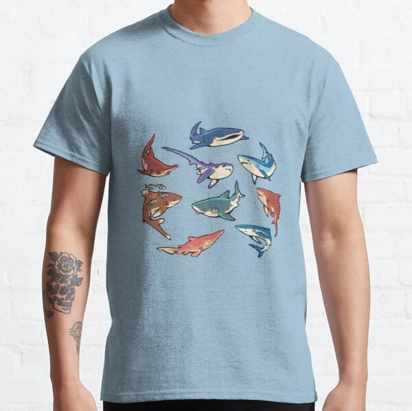 Sharks in the light blue Classic T-Shirt