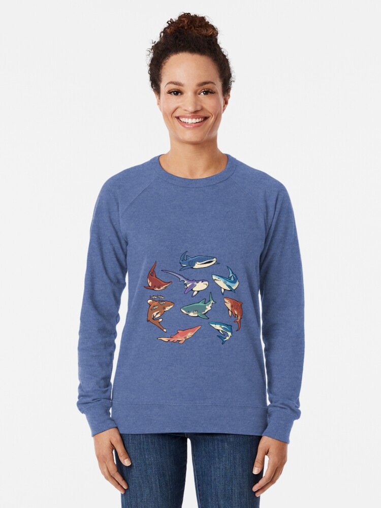 Alternative Ansicht von Haie im Hellblau Leichter Pullover