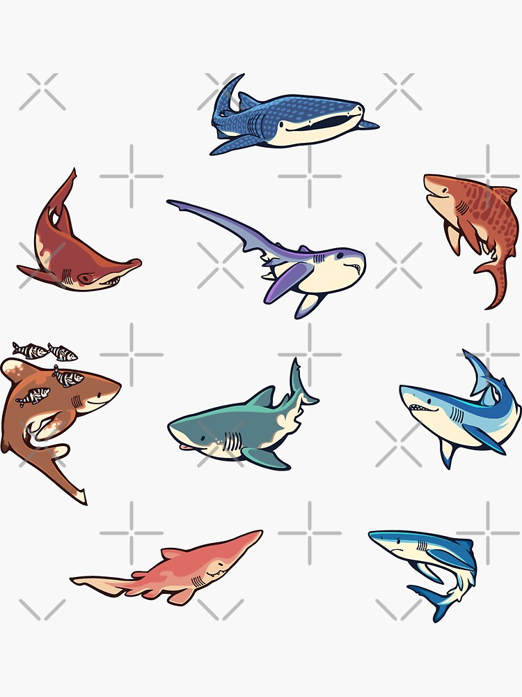 Sharks in the light blue by Colordrilos