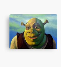 Shrek The Ogre Painting Canvas Print