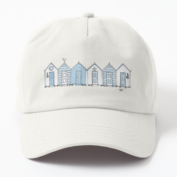 Little Blue Beach Huts Dad Hat