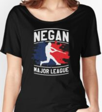 Negan Major League Baseball Lucille Walking Dead Women's Relaxed Fit T-Shirt