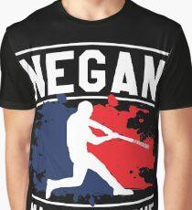 Negan Major League Baseball Lucille Walking Dead Graphic T-Shirt