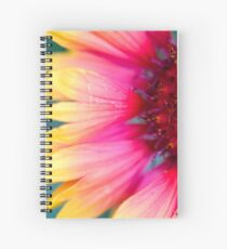 Simple Gradient Cone Flower Photograph Spiral Notebook