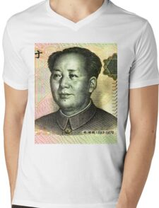 Mao Zedong (Renminbi) Mens V-Neck T-Shirt