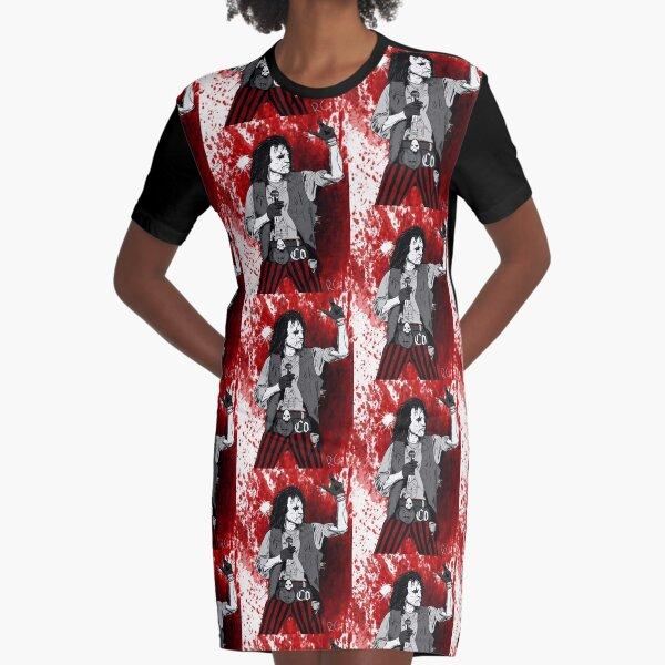 Rock Star Alice Cooper  Graphic T-Shirt Dress