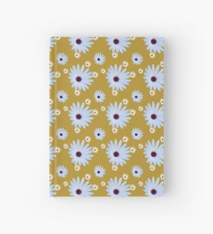 White Daisy with Purple Center Hardcover Journal