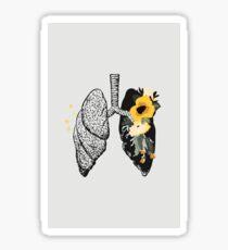 Sing Anatomical Floral Lungs Sticker