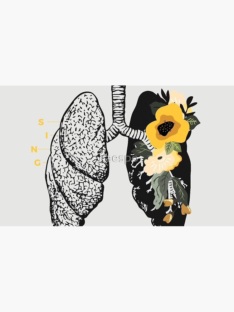 Sing Anatomical Floral Lungs by kaespo