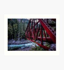 Pipeline Bridge Art Print