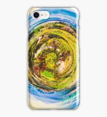 green nature with blue sky  iPhone Case/Skin