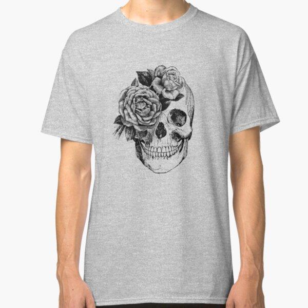 Floral Skull Anatomical Design Classic T-Shirt