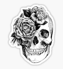 Floral Skull Anatomical Design Sticker
